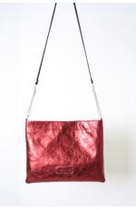 Schoudertasje metallic rood
