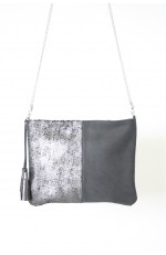 Schoudertasje donkerblauw/metallic